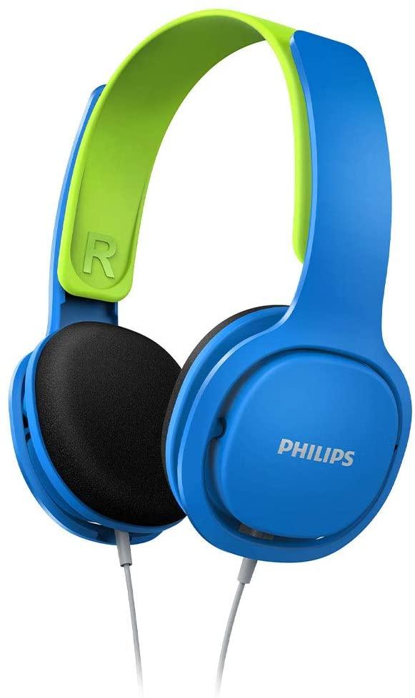 Fone de Ouvido Philips Kids, P2, Azul/Verde - SHK2000BL/00