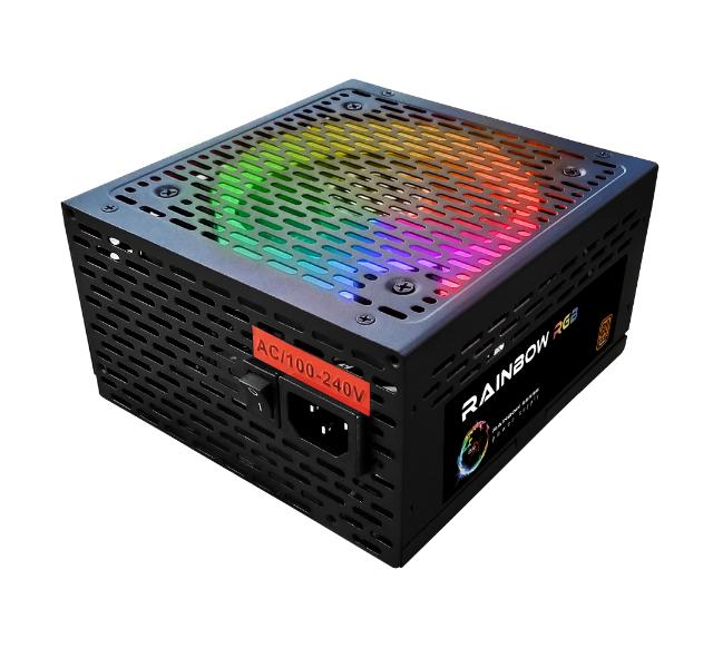 Fonte RGB BRX Rainbow 750W 80 Plus Bivolt Automática PFC Ativo