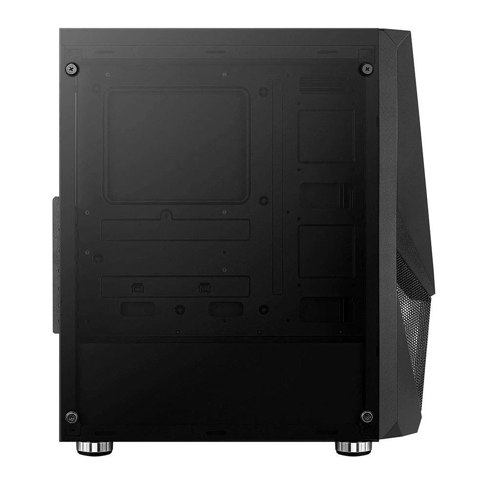 Gabinete Gamer Aerocool Zauron Saturn, Mid Tower, 1x FAN RGB Frontal, Lateral em Vidro Temperado, Preto - 73000
