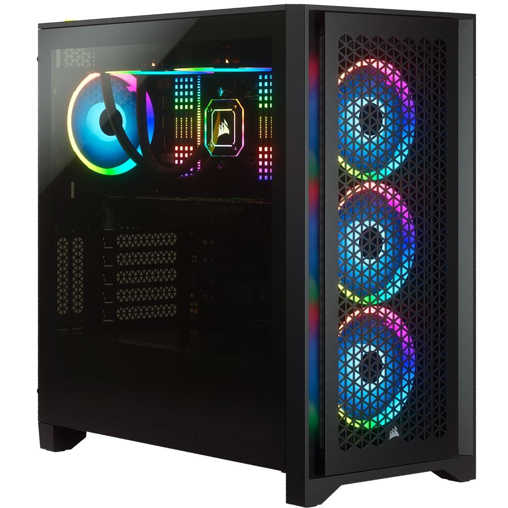 Gabinete Gamer Corsair 4000D Airflow, Mid Tower, Vidro Temperado, ATX, Black, Sem Fonte, Com 2 fans - CC-9011200-WW