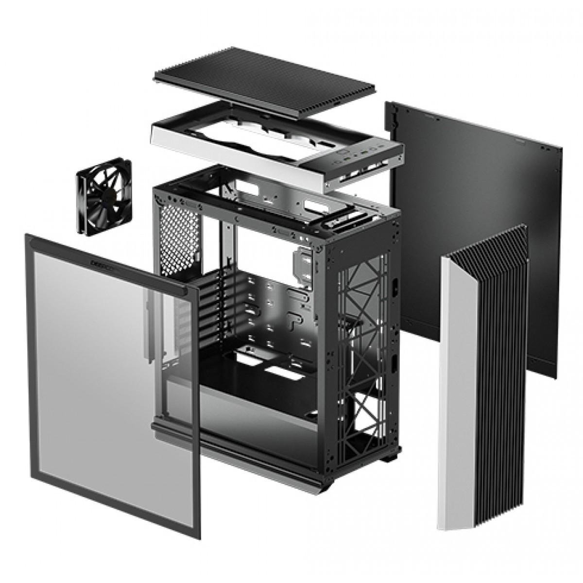 Gabinete Gamer DeepCool, CL500, Mid Tower, Vidro Temperado, Black, Sem Fan - R-CL500-BKNMA0N-C-1