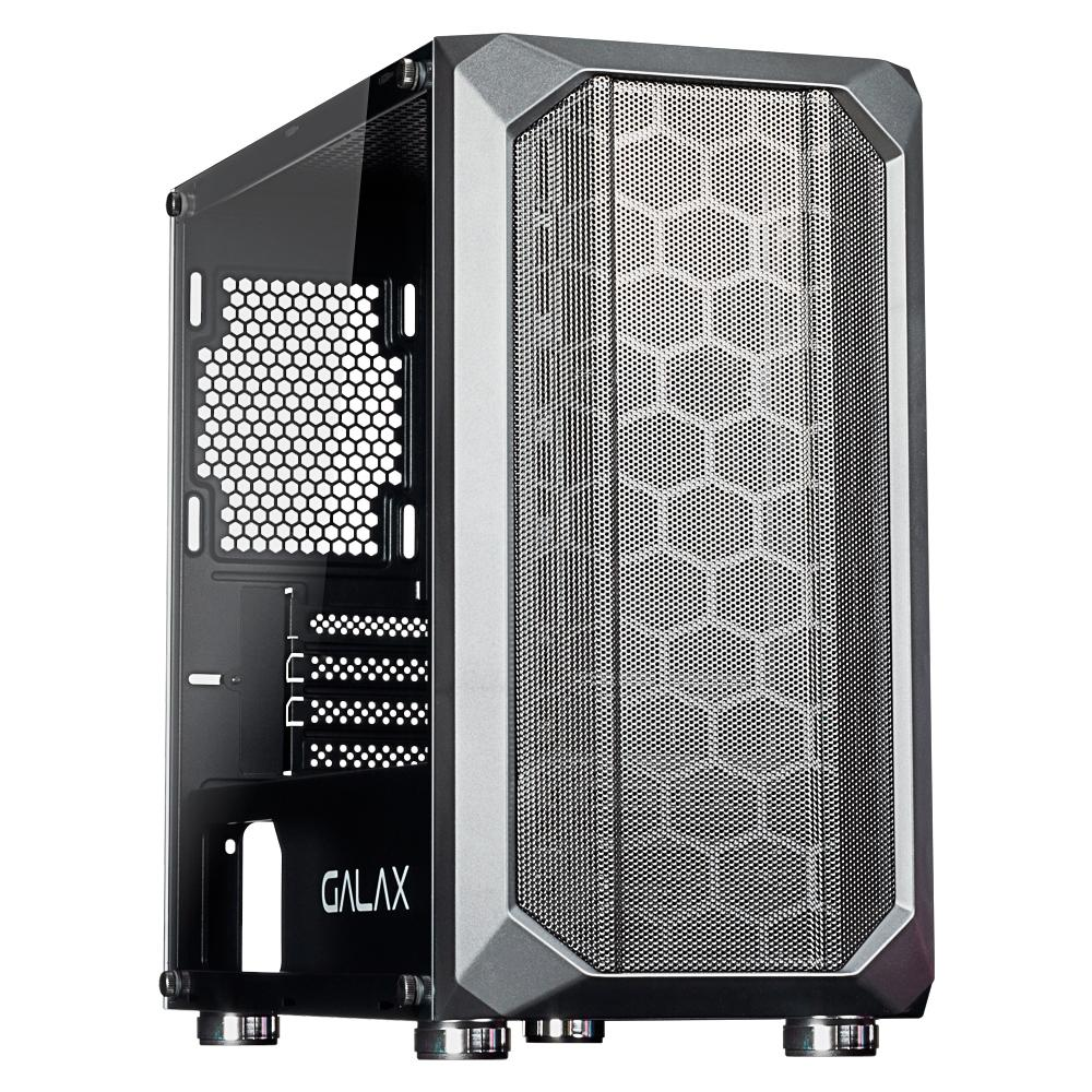 Gabinete Gamer Galax Nebulosa, Mini Tower, Vidro Temperado, Sem Fan, Black, Sem Fonte - GX700