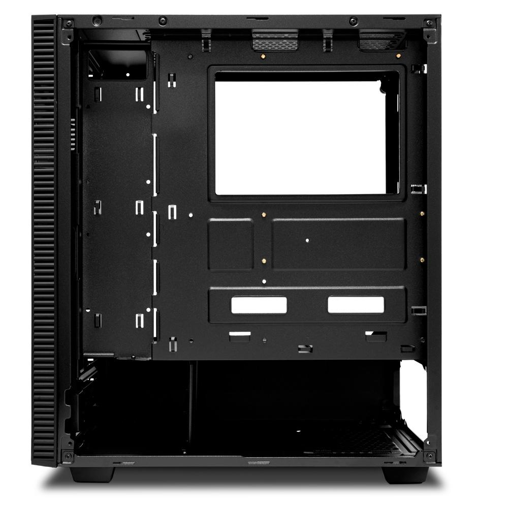 Gabinete Gamer T-Dagger Cube Black, S/ Fan, Mid Tower, Lateral em Vidro - T-TGC305B
