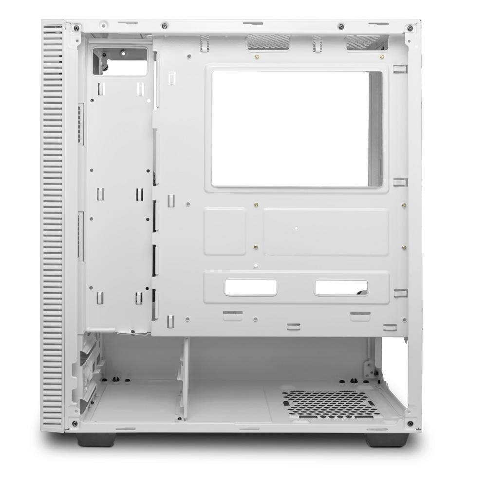 Gabinete Gamer T-Dagger Cube White, Mid Tower, Lateral em Vidro, Branco - T-TGC305W