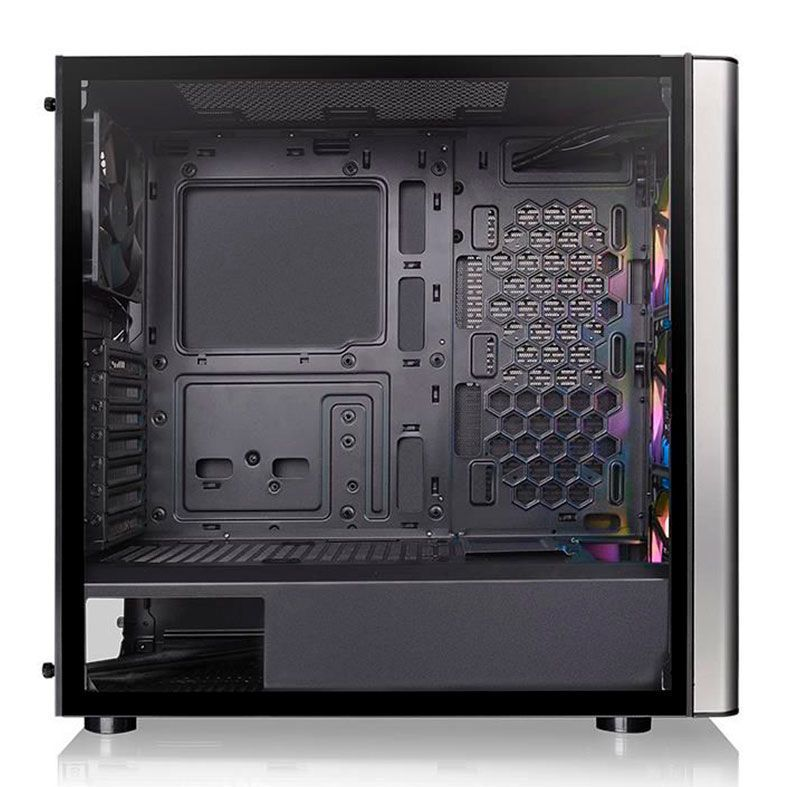 Gabinete Gamer Thermaltake Level 20 MT Argb, Mid Tower, Com 4 Fans, Vidro Temperado, Black, S-Fonte, CA-1M7-00M1WN-00