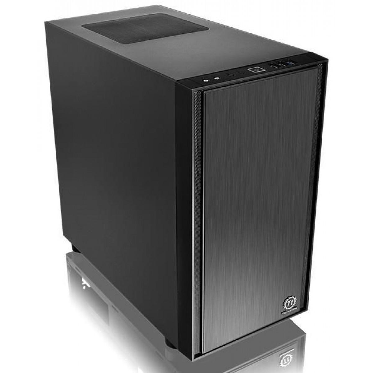 Gabinete Gamer Thermaltake Versa H17, Mini Tower, Black, Sem Fonte, CA-1J1-00S1NN-00