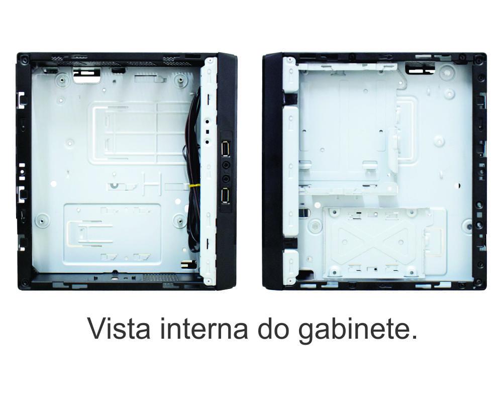 Gabinete K-mex Mini ITX GI-10S1 Preto 2xUsb 2.0 C/fonte Interna PF-130W C/Cabo - GI10S1FF001CB0X