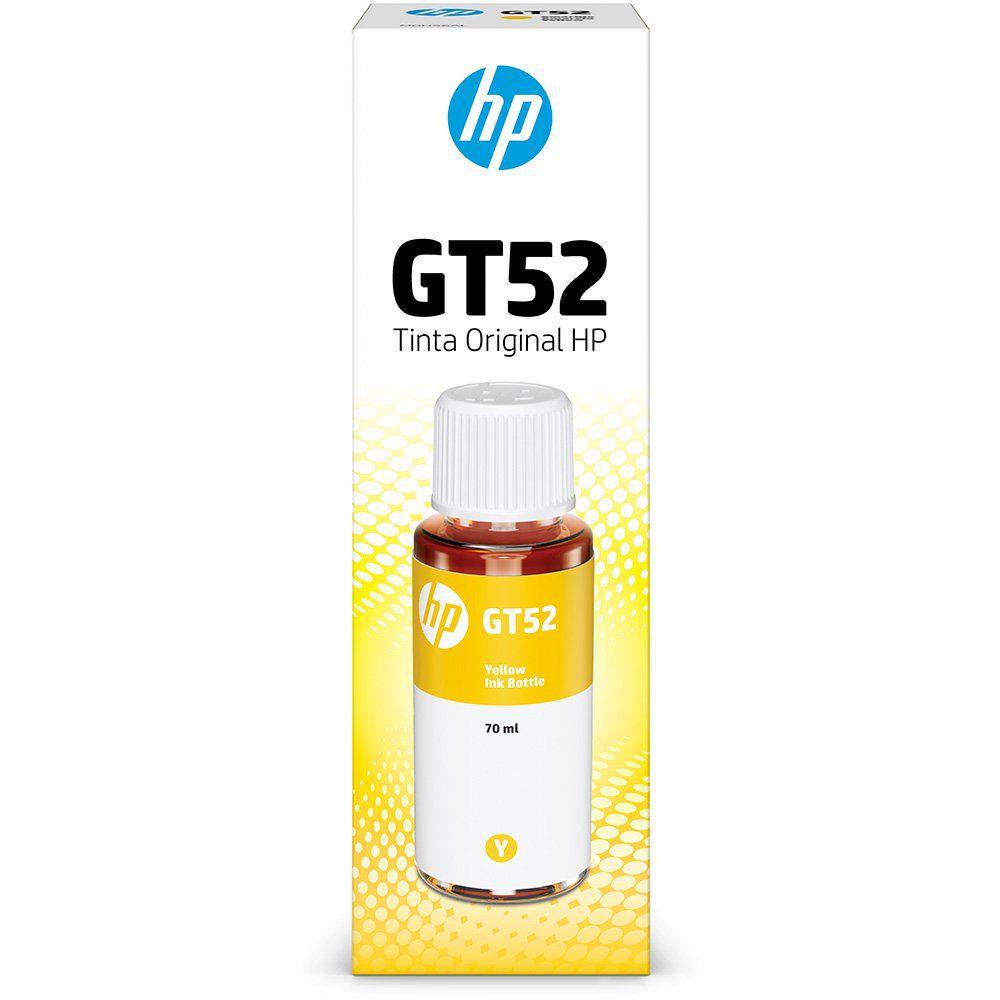 Garrafa HP GT52 Amarela original (M0H56AL) Para HP Deskjet 5822