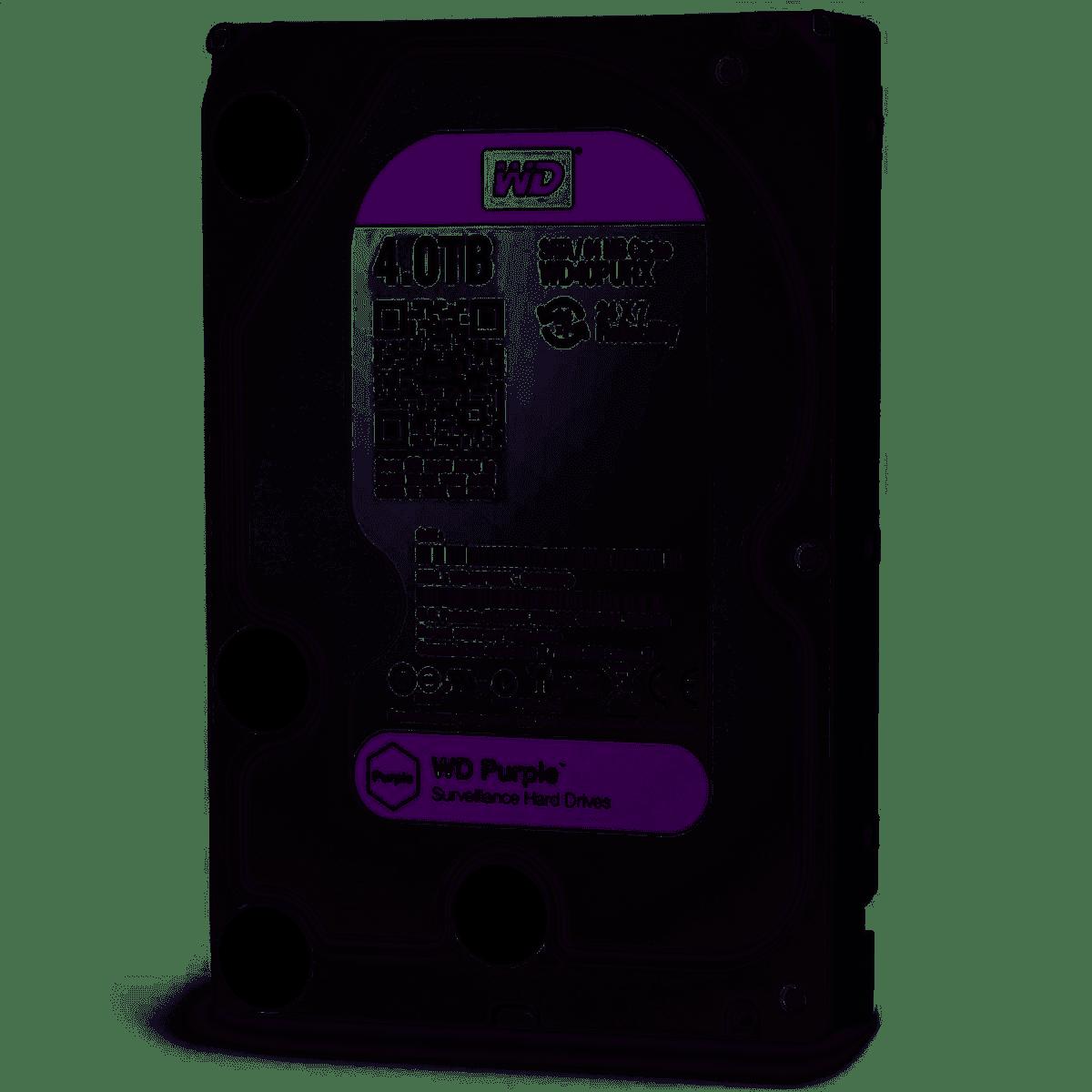 """HD WD Purple Surveillance, 4TB, 3.5"""", SATA - WD40PURZ"""
