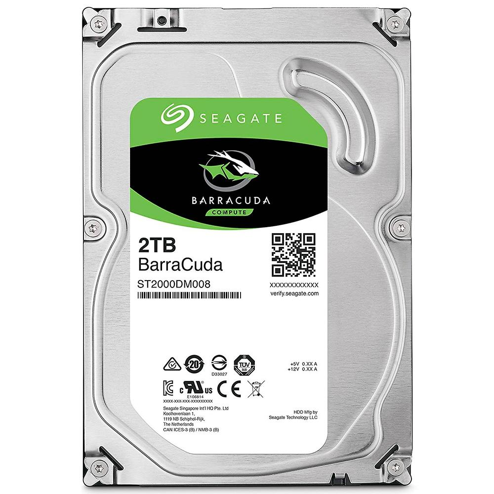"HD Seagate BarraCuda, 2TB, 3.5"", SATA - ST2000DM008"