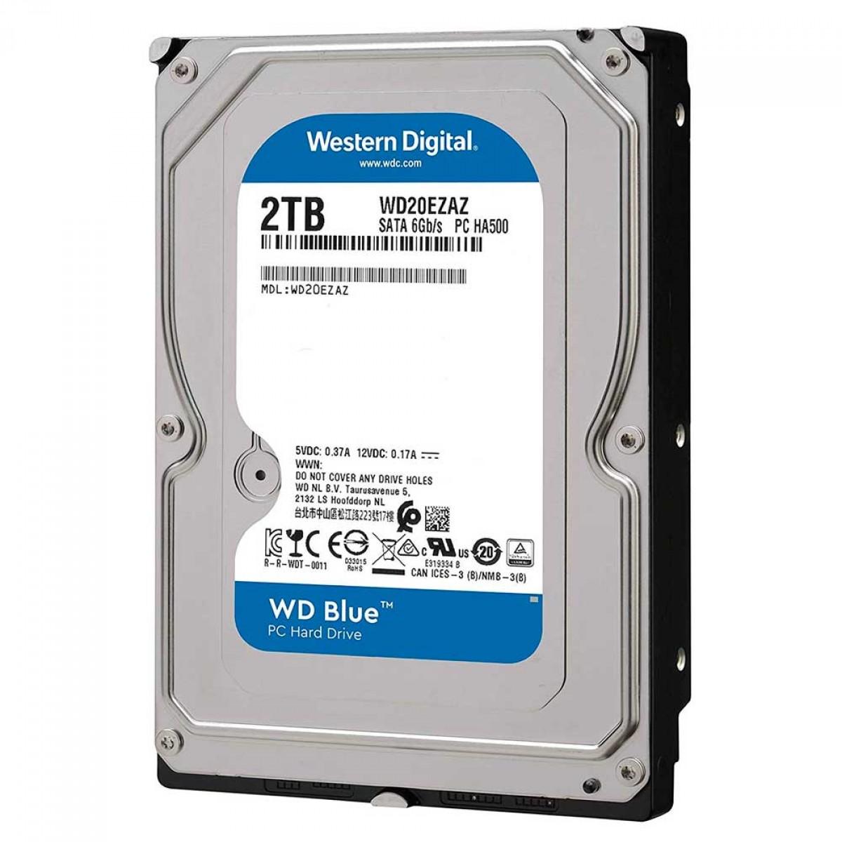 """HD WD Blue, 2TB, 3.5"""", SATA 6.0Gb/s - WD20EZAZ"""