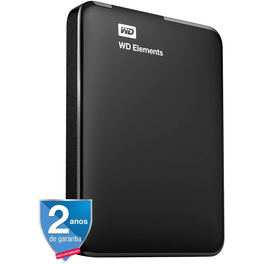 HD WD Externo Portátil Elements USB 3.0 1TB WDBUZG0010BBK