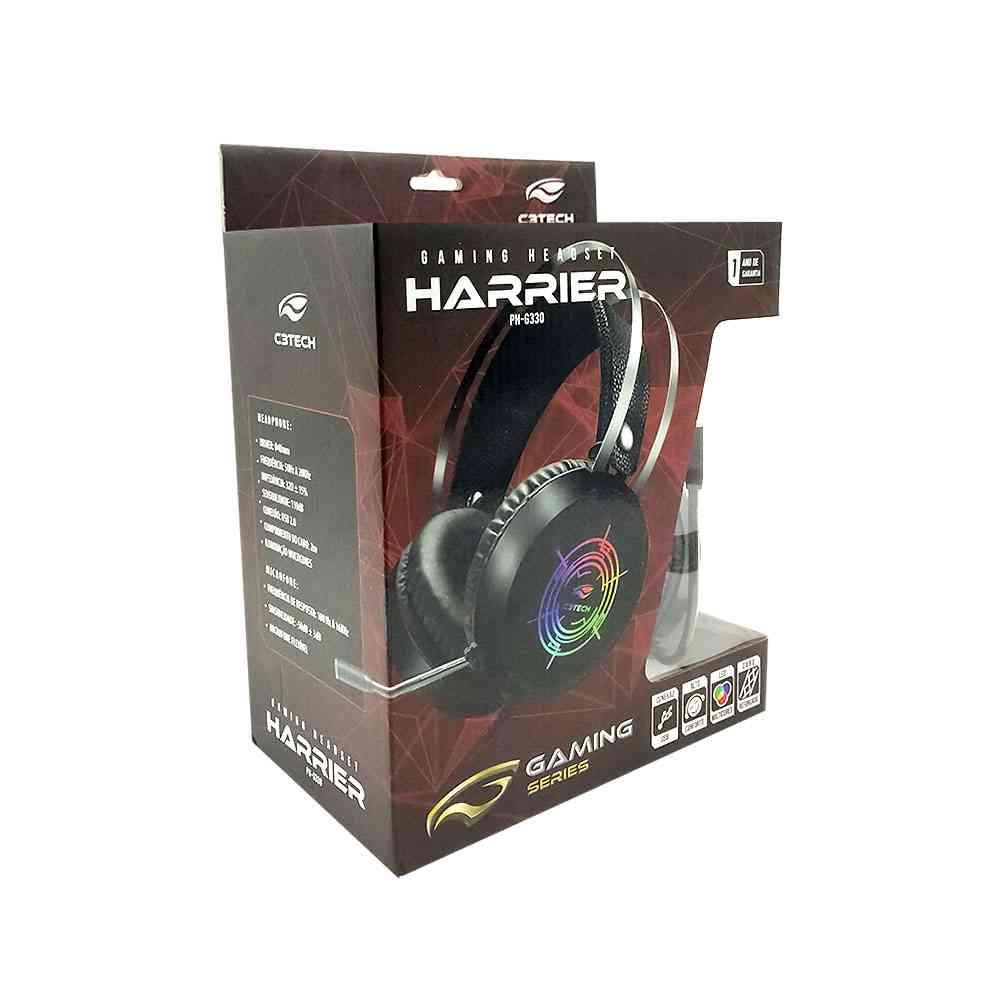 Headset Gamer C3Tech Harrier, USB, Preto - PH-G330BK