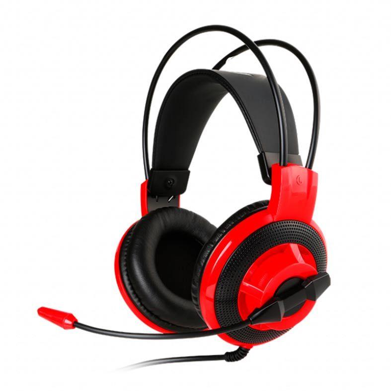 Headset Gamer MSI DS501 Preto/Vermelho, DS501