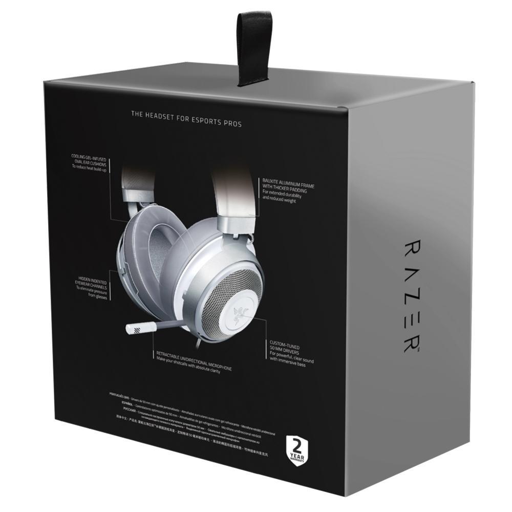 Headset Gamer Razer Kraken Multi Platform, P3/P2, Som Surround 7.1, Drivers 50mm, Mercury White - RZ04-02830400-R3M1