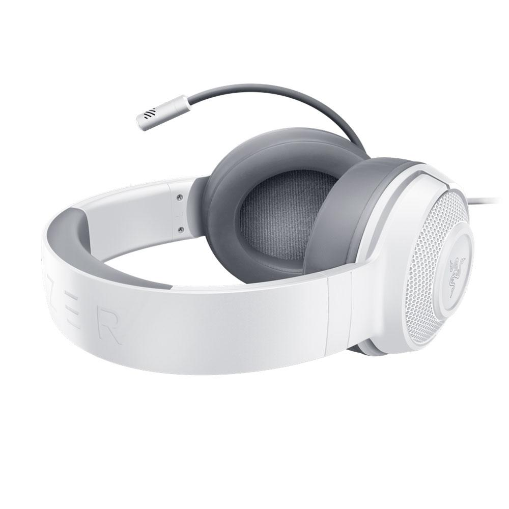 Headset Gamer Razer Kraken X, P3/P2, Som Surround 7.1, Drivers 40mm, Mercury White - RZ04-02890300-R3U1