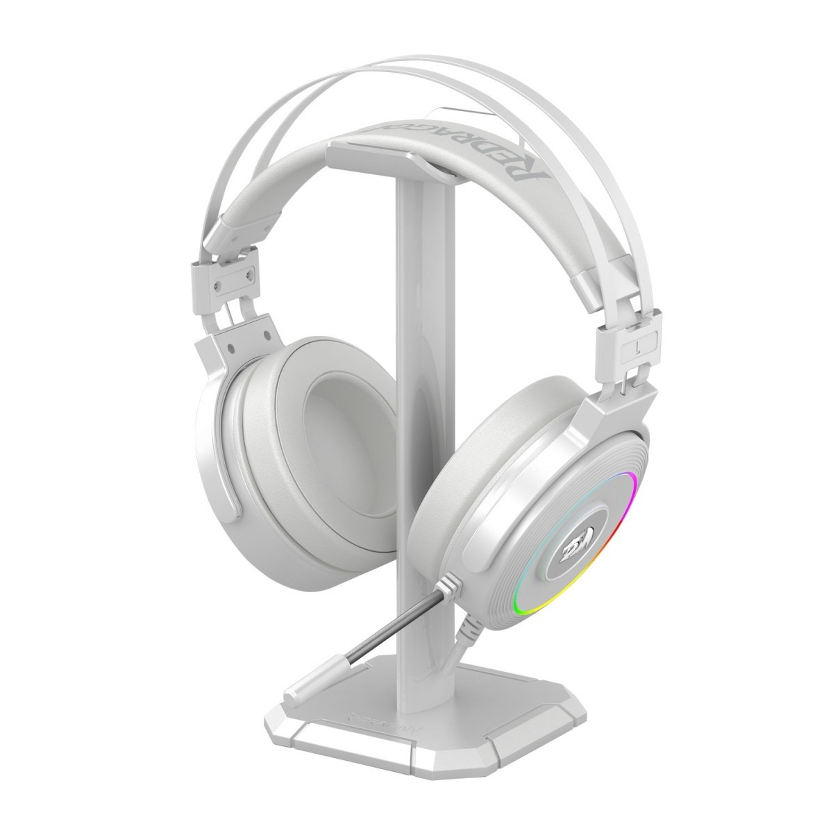 Headset Gamer Redragon Lamia Lunar White H320 RGB, Surround 7.1, Branco, H320W-RGB