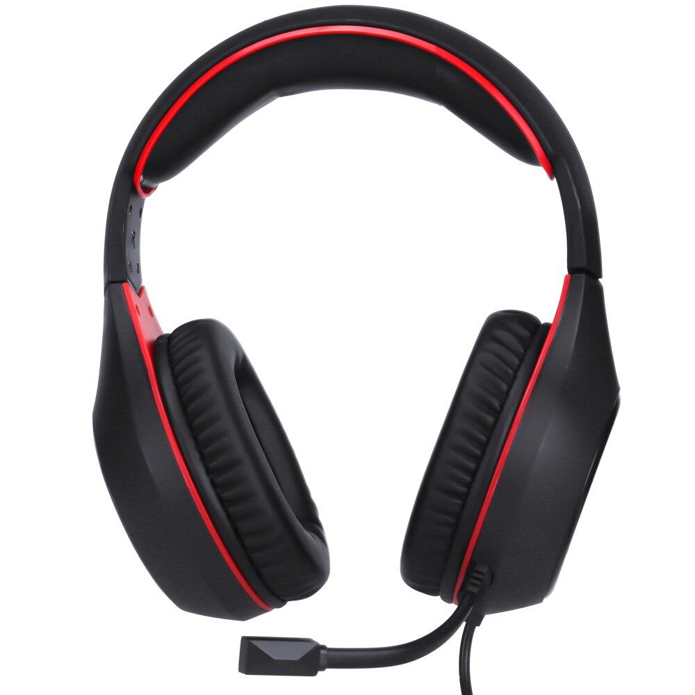 Headset Gamer XTRIKE-ME Blacklit, 7 Cores, Preto e Vermelho - GH-710