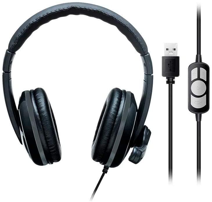 Headset Multilaser Pro, USB, Preto/Cinza - PH317