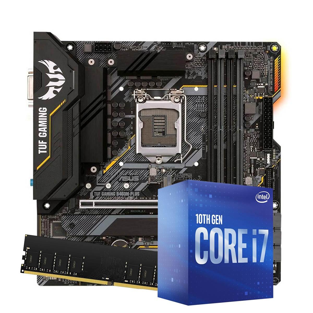 Kit Upgrade intel 10º geração Core i7-10700 2.9ghz ,Placa Mãe Asus TUF gaming B460M-Plus LGA 1200, 8GB DDR4