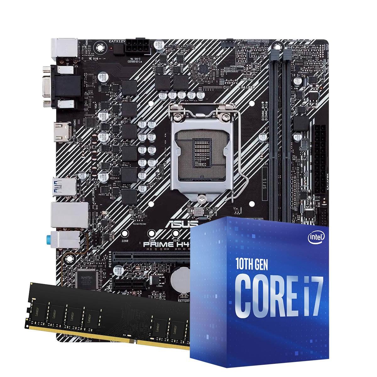Kit Upgrade intel 10º geração corei7-10700 2.9ghz ,Placa Mãe Asrock H410M-HVS LGA 1200, 8GB DDR4