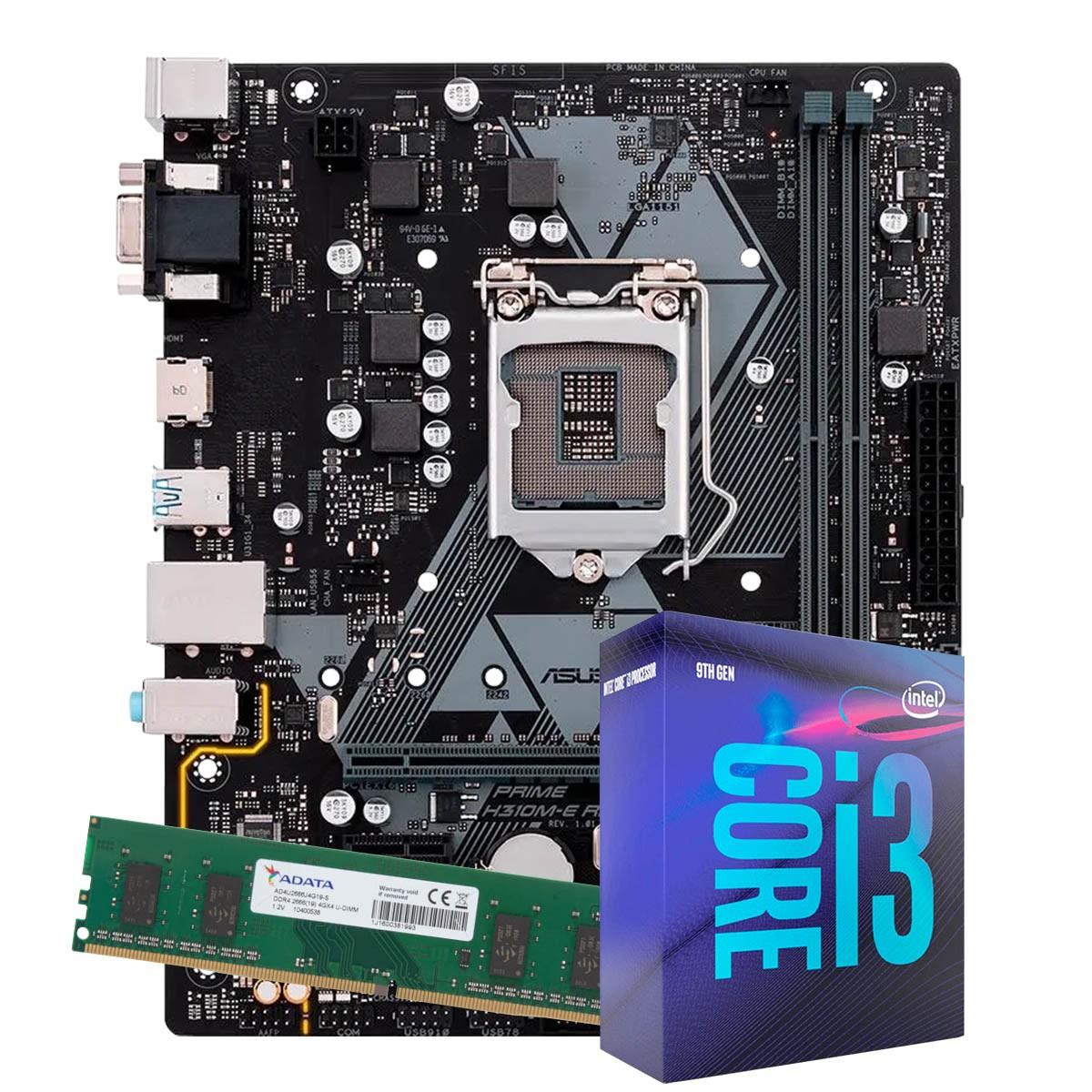 Kit Upgrade intel Corei3-8100 3.6Ghz, Placa Mãe Pcware IPMH310G  Pro LGA 1151, 4GB DDR4