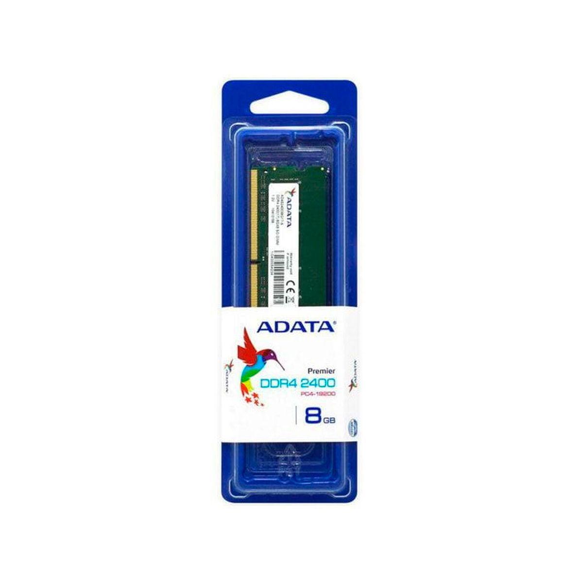 Memória Adata para Notebook, 8GB, DDR4, 2400MHz, PC4-19200, SODIMM - AD4S240038G17-S