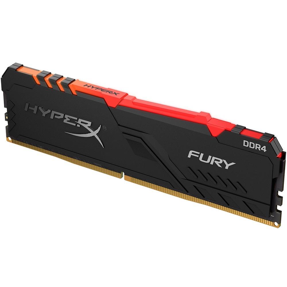 Memória HyperX Fury RGB, 8GB, 2666MHz, DDR4, CL16, Preto - HX426C16FB3A/8
