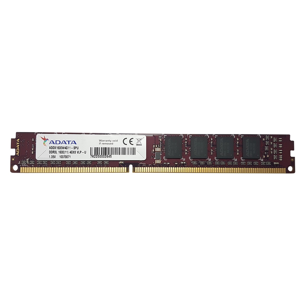 Memoria RAM Adata para PC, 4GB, DDR3L, 1600MHZ - ADDX1600W4G11-SPU