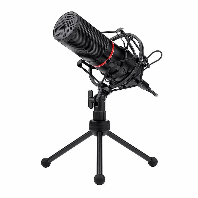 Microfone Gamer Streamer Redragon Blazar, com Tripé, USB, Preto - GM300