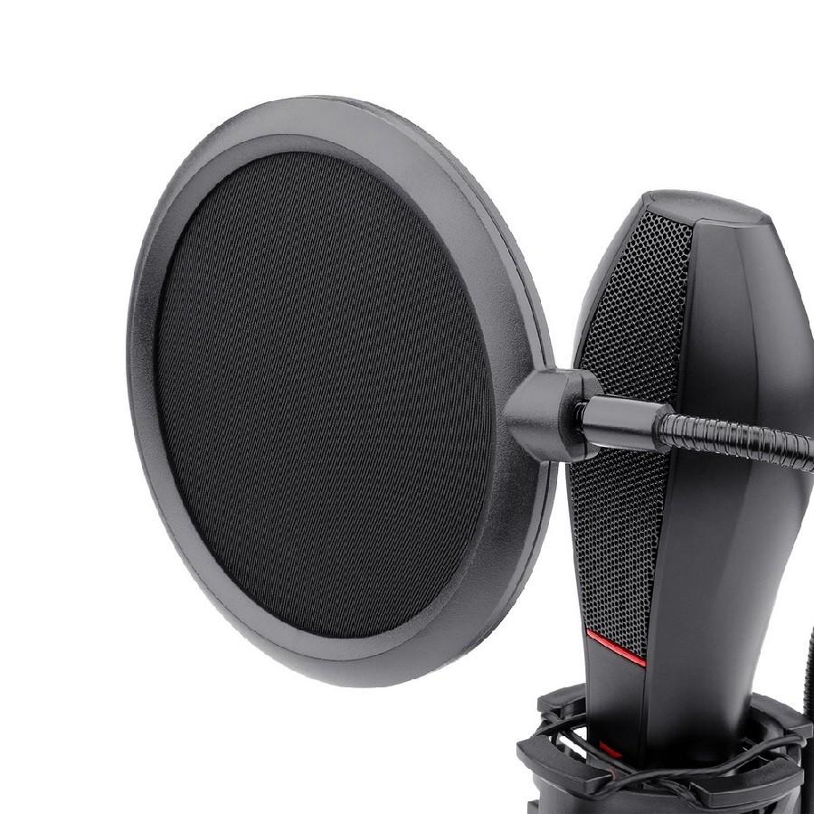 Microfone Gamer Streamer Redragon Quasar C/ Tripé, USB, Black - GM200-1