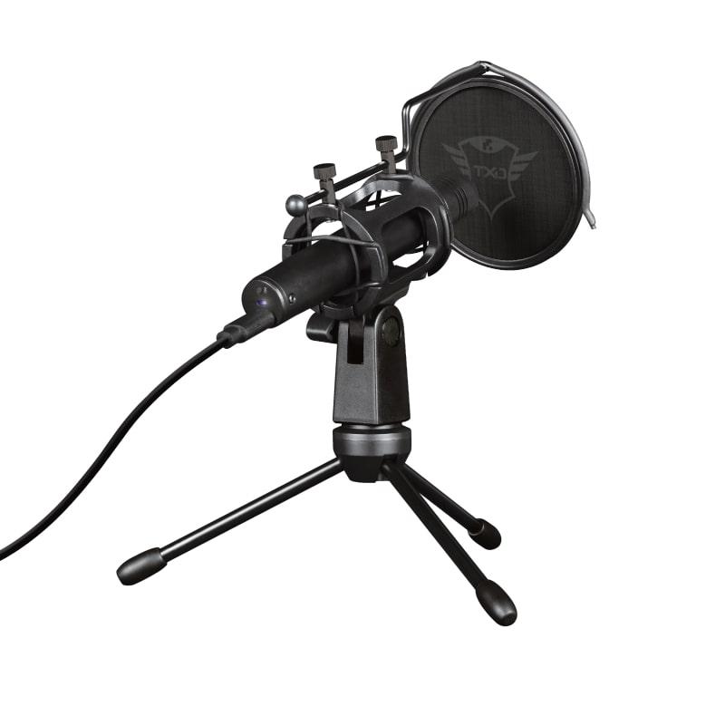 Microfone Trust GXT 241 Velica, Preto - 24182