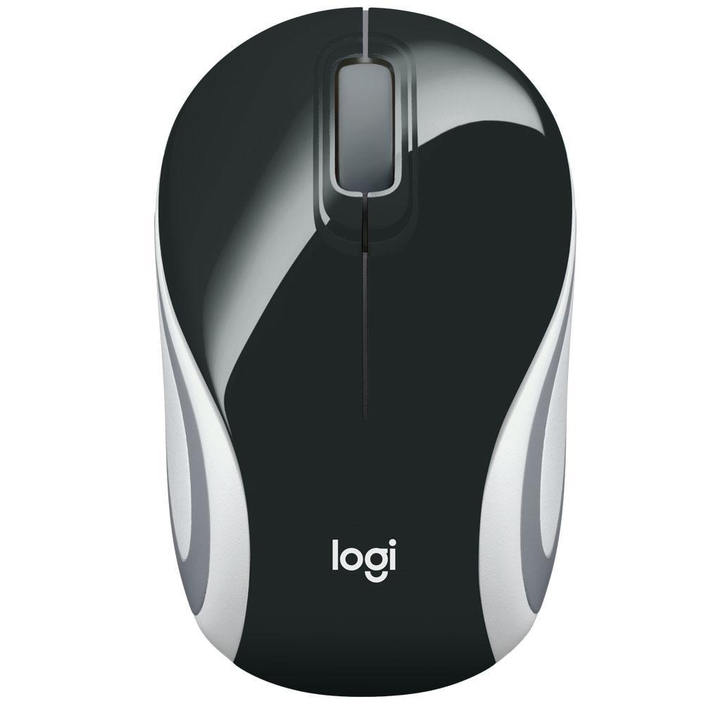 Mini Mouse Logitech M187 Sem Fio Preto 1000DPI