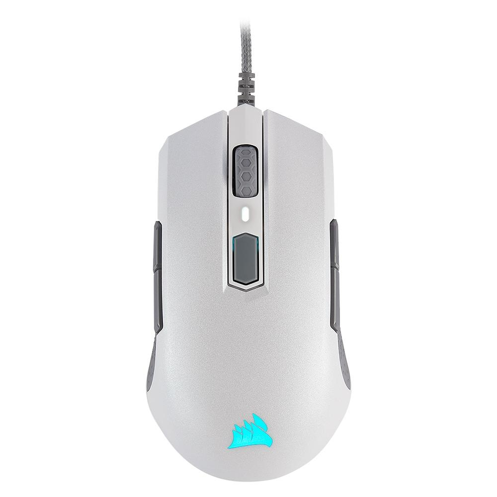 Mouse Gamer Corsair M55 Pro, RGB, 8 Botões, 12400DPI, Branco - CH-9308111-NA