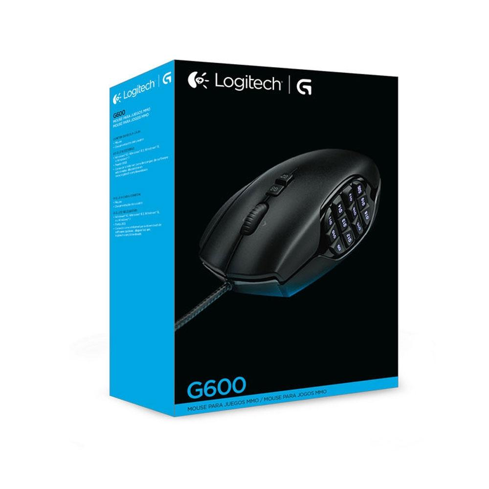 Mouse Gamer Logitech G600 MMO, RGB Lightsync, 20 Botões, 8200 DPI - 910-003879