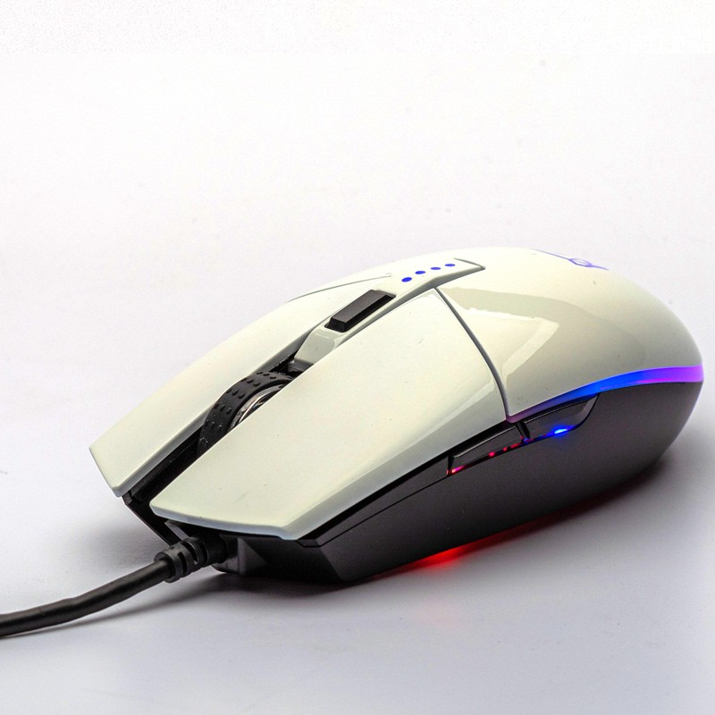 Mouse Gamer Motospeed V50, RGB Backlight, 4000 DPI, Branco - FMSMS0005BRO