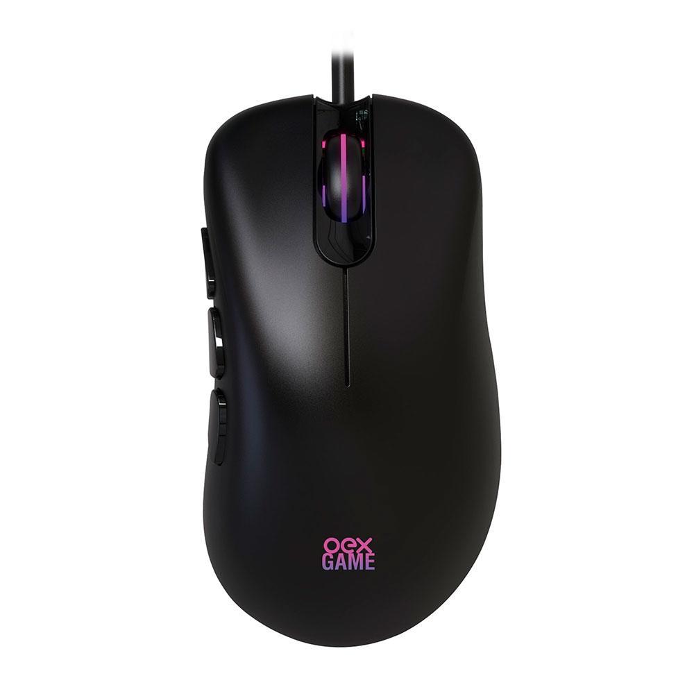 Mouse Gamer Oex Game Adrik, RGB, 8 Botões, 6400DPI - MS321