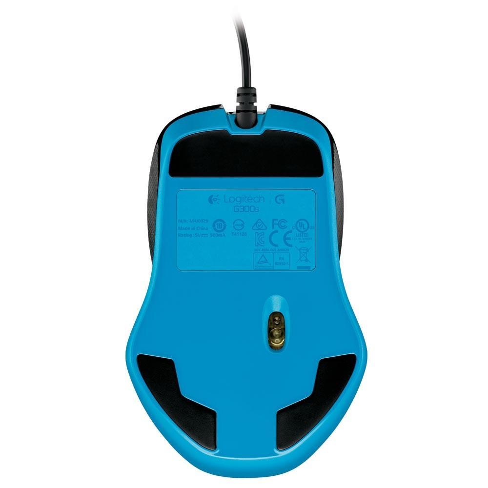 Mouse Gamer Òptico Logitech G300s com Design Ambidestro, Memória Integrada e 9 Botões Programáveis 2500DPI - 910-004360