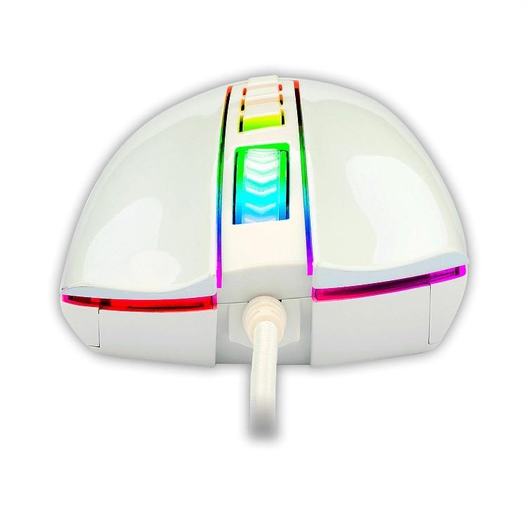 Mouse Gamer Redragon Cobra, RGB, 7 Botões, 10000DPI, Lunar White - M711W