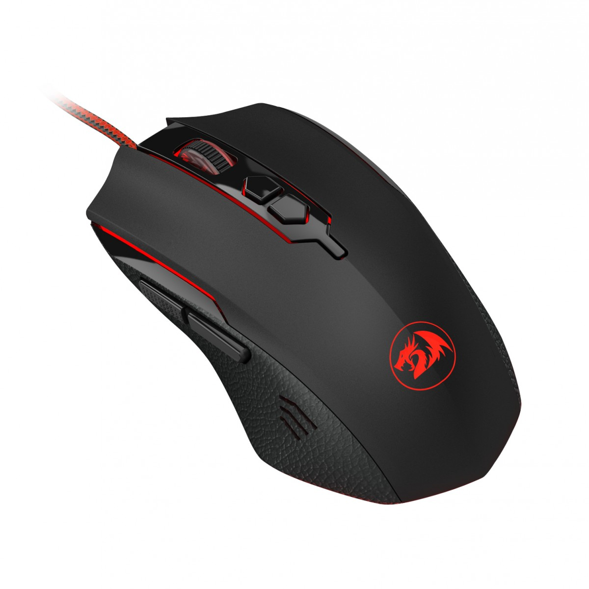 Mouse Gamer Redragon Inquisitor 2, 7200 DPI, 6 Botões Programáveis, Black - M716A