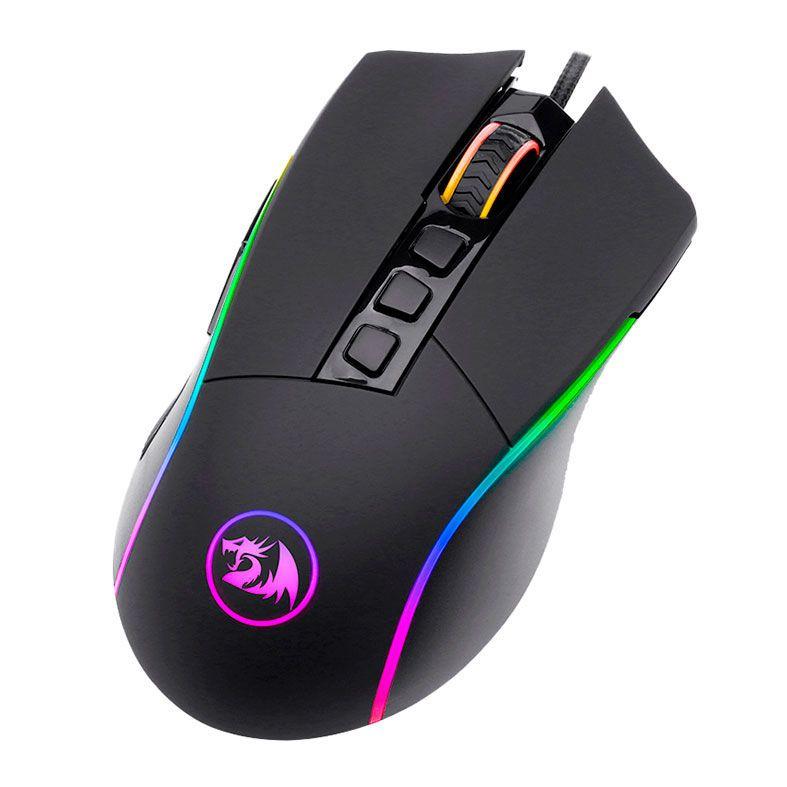 Mouse Gamer Redragon Lonewolf 2 Pro M721 RGB, 32000 DPI, 10 Botões Programáveis, Black - M721-PRO