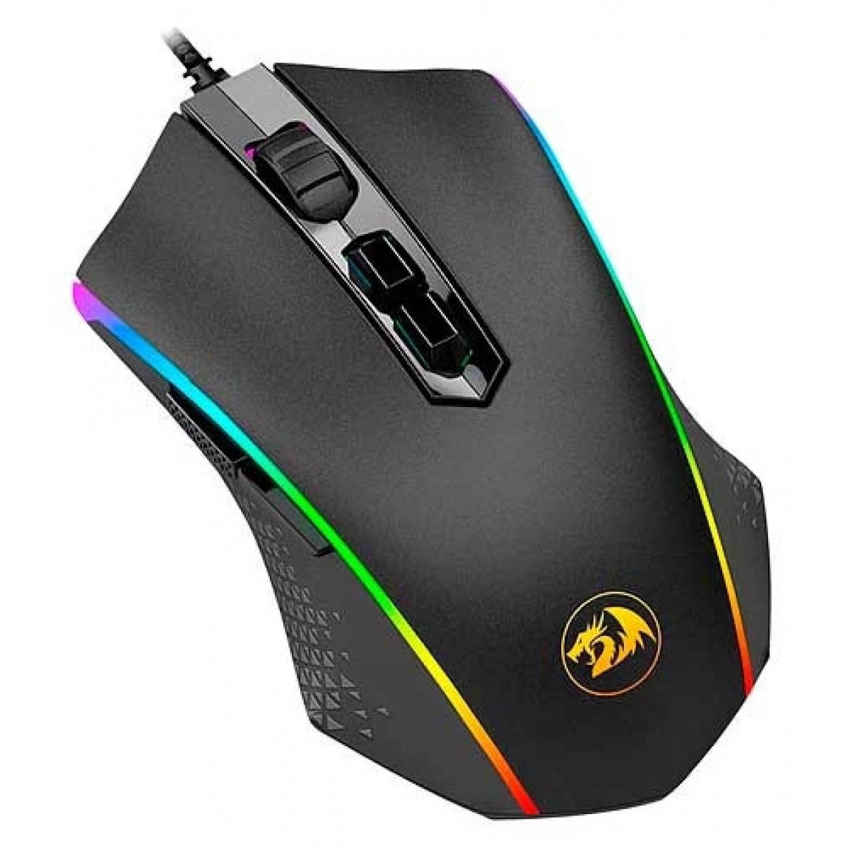 Mouse Gamer Redragon Memeanlion M710 RGB, 10000 DPI, 10 Botões, Black