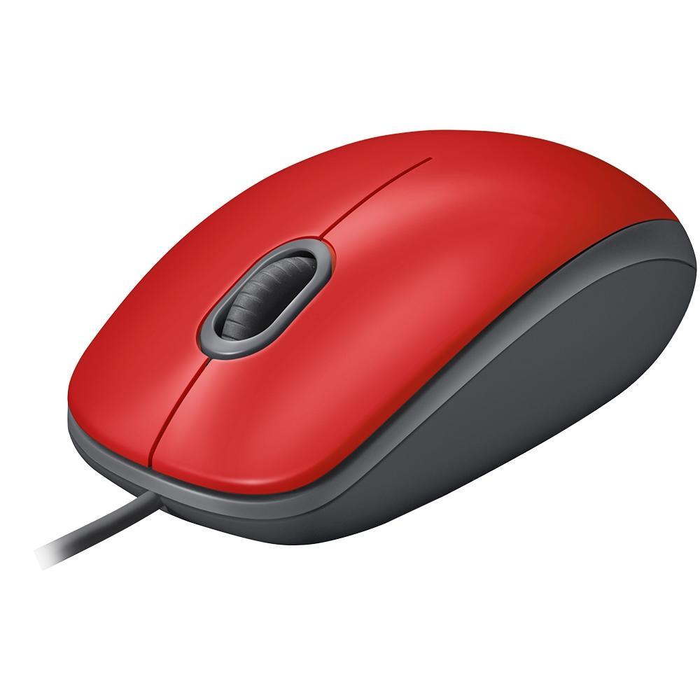 Mouse Logitech M110 com Clique Silencioso Vermelho - 910-005492