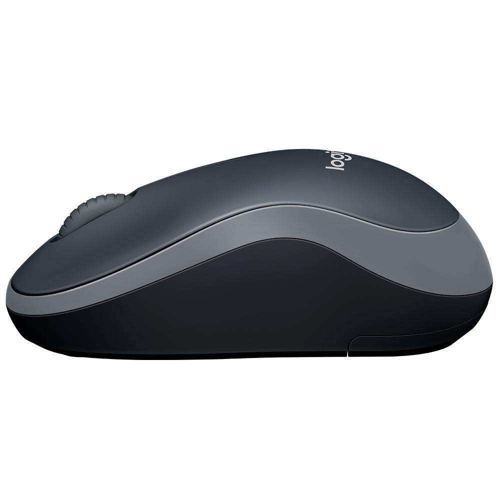 Mouse Logitech M185 Sem Fio Cinza 1000DPI - 910-002225
