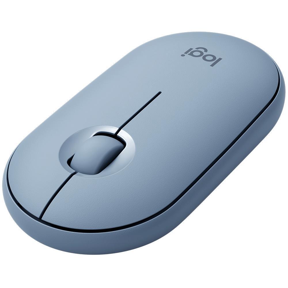 Mouse Sem Fio Logitech Pebble M350, Azul - 910-005773