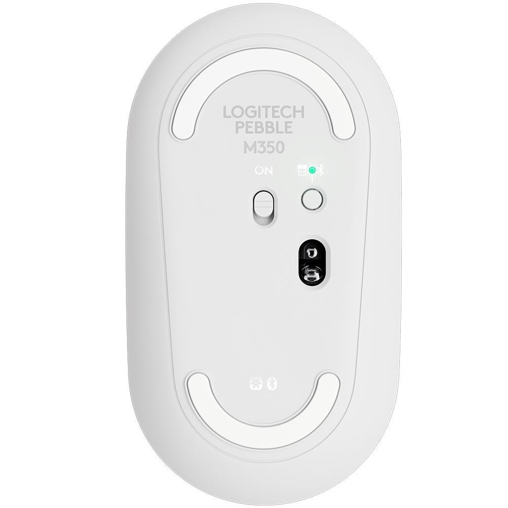 Mouse Sem Fio Logitech Pebble M350, Unifying, Branco - 910-005770