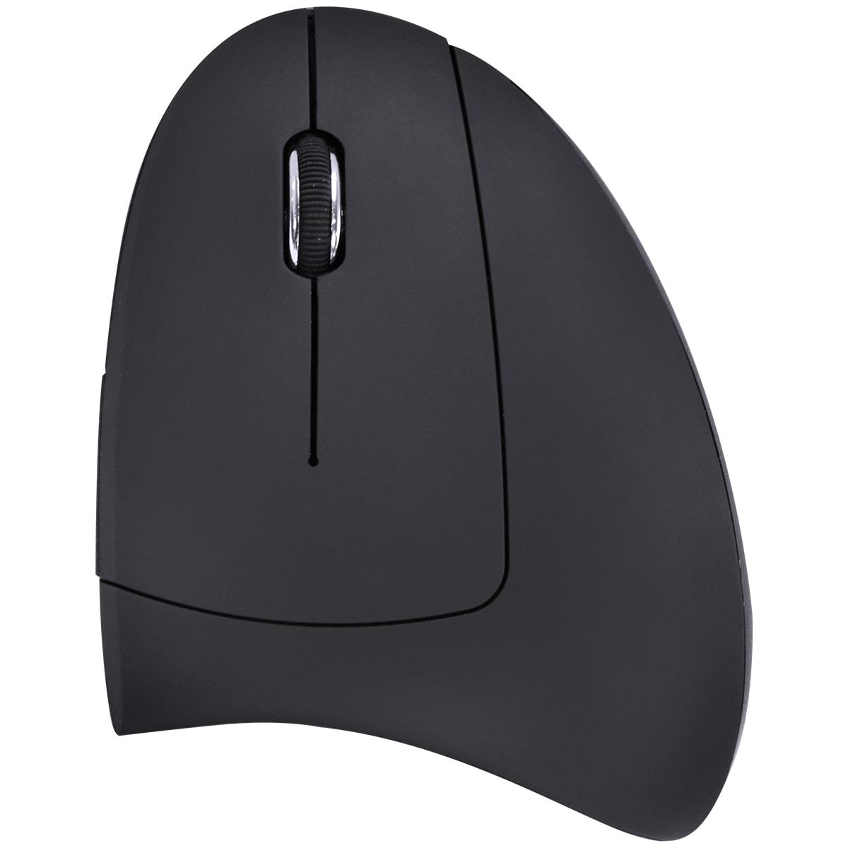 Mouse Vinik sem Fio, Vertical, Ergonômico, Ortopédico, Recarregável, 2.4GHz, Power Fit, 1600DPI, Preto, USB - PM300