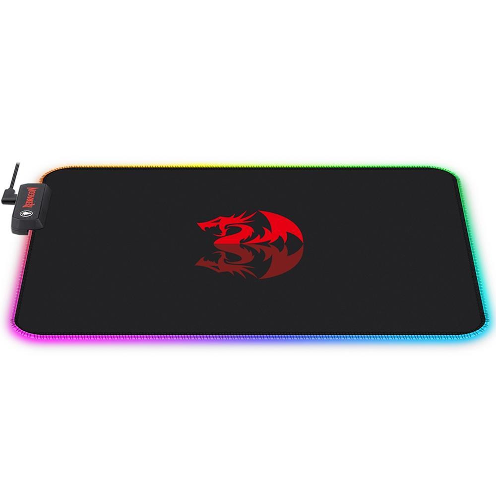 Mousepad Gamer Redragon Pluto P026, RGB, Control, Grande (330x260mm) - P026
