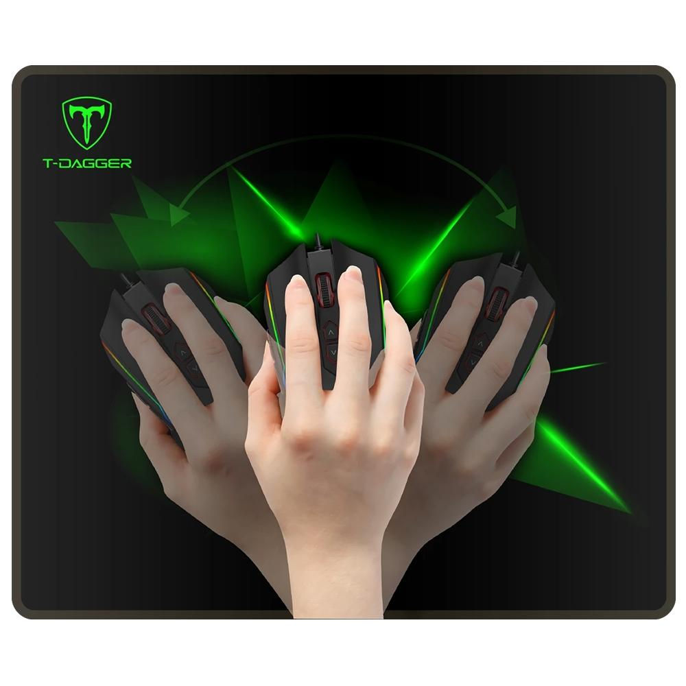 Mouse Pad Gamer T-Dagger Geometry M, Médio (360x300mm) - T-TMP201