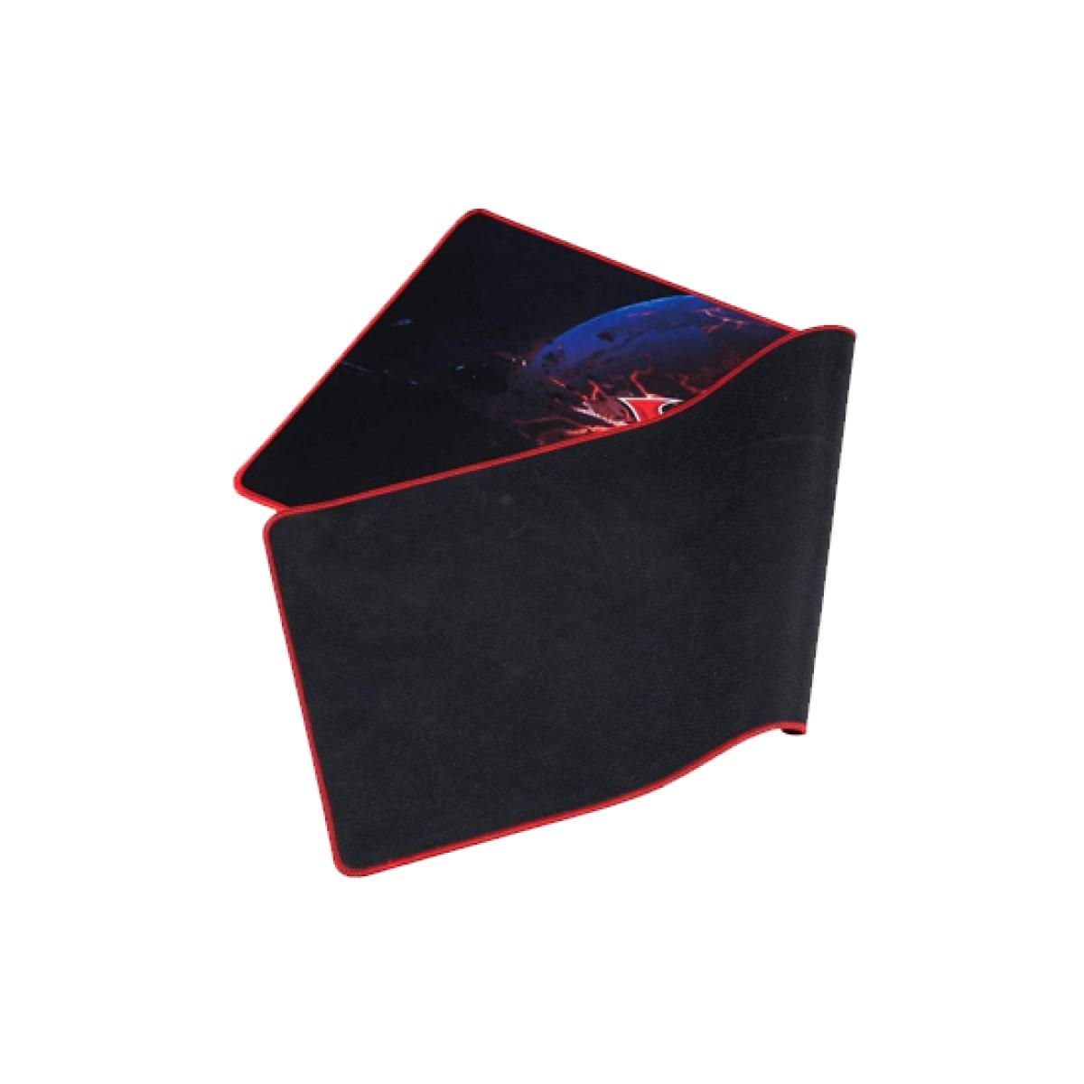 Mousepad Gamer XTRIKE-ME, Grande, Prova D'agua, Black/Red - MP204